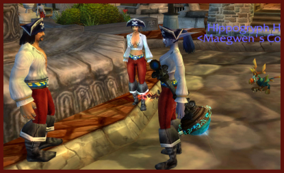 Eqqie and I meet some oddly dressed folks in Stormwind